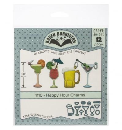 Stanzschablonen Happy Hour Charms - Karen Burniston