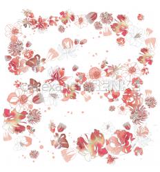 Scrapbooking Papier Musik Blütenzauber Rubin-Rot - Alexandra Renke