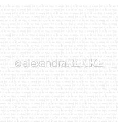 Scrapbooking Papier Typo Love Is in the air Steingrau - Alexandra Renke