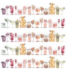 Scrapbooking Papier Mixed Cocktails - Alexandra Renke