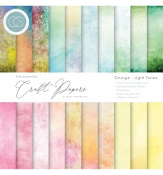 "Scrapbooking Papier Grunge-Light Tones, 6"" - Craft Consortium"
