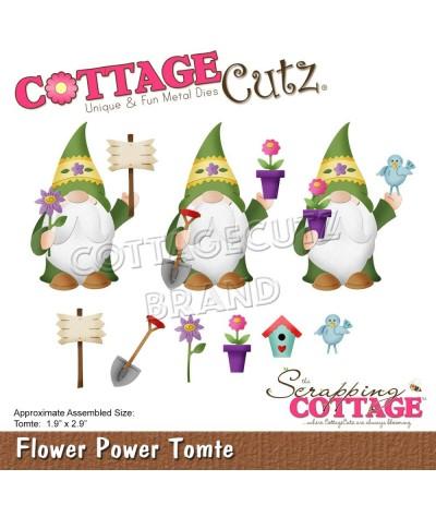Stanzschablone Flower Power Tomte - Cottage Cutz