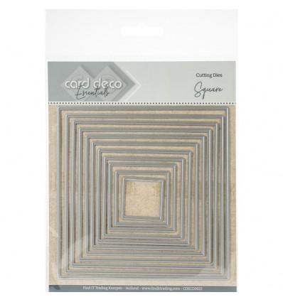 Stanzschalbonen Quadrat - Card Deco