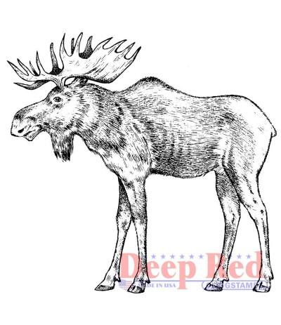 Cling Stempel Moose - Deep Red