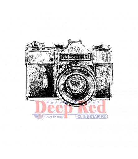 Cling Stempel Vintage Camera - Deep Red