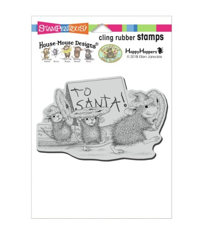 Cling Stempel House-Mouse To Santa - Stampendous