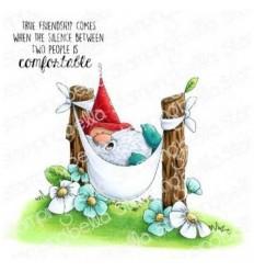 Cling Stempel The Gnome in the Hammock - Stampingbella