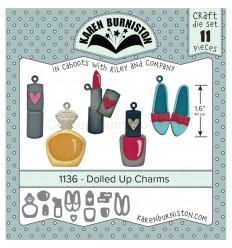 Stanzschablonen Dolled Up Charms - Karen Burniston