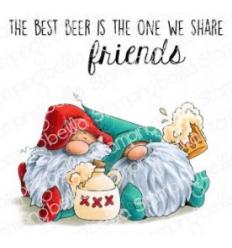 Cling Stempel Beer Gnomes - Stampingbella
