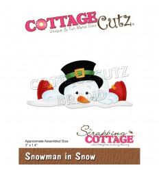 Stanzschablone Snowman in Snow - Cottage Cutz
