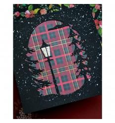 "Scrapbooking Papier Christmas Plaid, 6""x6"" - Memory Box"