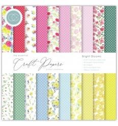 """Scrapbooking Papier Bright Blooms, 6""""x6"""" - Craft Consortium"""