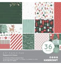 """Scrapbooking Papier Peppermint Kisses, 6.5"""" x 6.5"""" - Kaisercraft"""