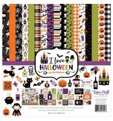 """Scrapbooking Papier I love Halloween, 12"""" x 12"""" - Echo Park"""