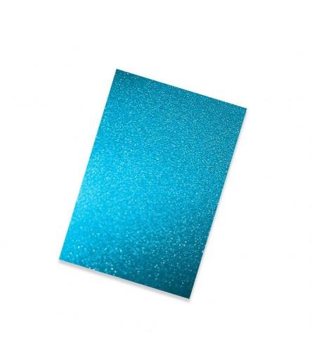 Vinylfolie leicht glitzernd türkis, A4 - Plottermarie