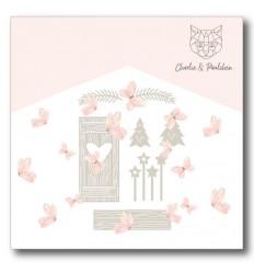 Stanzschablonen Weihnachtsfenster Aussendekoration - Charlie & Paulchen