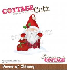 Stanzschablone Gnome w. Chimney - Cottage Cutz