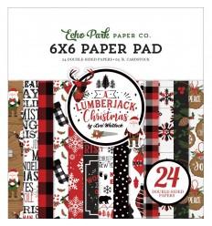 "Scrapbooking Papier Lumberjack Christmas, 6x6"" - Echo Park"