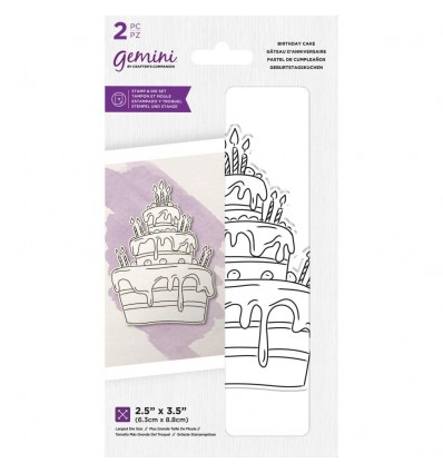 Clear Stamp & Stanzschablone Set Birthday Cake - Crafters Companion