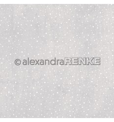 Scrapbooking Papier Schneegestöber helles grau - Alexandra Renke