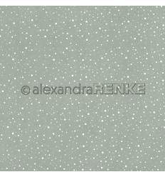Scrapbooking Papier Schneegestöber oliv - Alexandra Renke