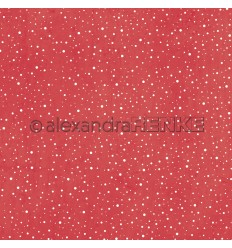 Scrapbooking Papier Schneegestöber rot - Alexandra Renke