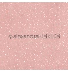 Scrapbooking Papier Schneegestöber zartes rosa - Alexandra Renke