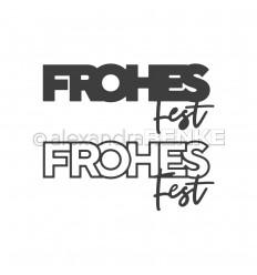 Stanzschablone Frohes Fest - Alexandra Renke
