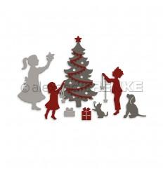 Stanzschablone Weihnachtliche Vorfreude - Alexandra Renke