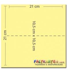 Doppelkarten in elfenbein, A6, 25 Stk. - FK