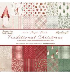 "Scrapbooking Papier -Traditional Christmas - 6"" x 6"" - Maja Design"