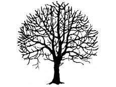Bäume Holzstempel