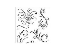 Flourish, Swirls & Spirals Rubber Stamps
