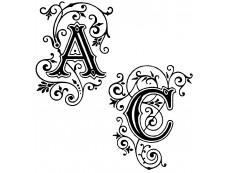 Einzeln Buchstaben Stempel