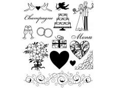 Hochzeit & Liebe Clear Stamps