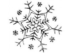 Flocons de neige tampons décoratifs