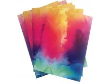 Watercolor vinyl foils, A4